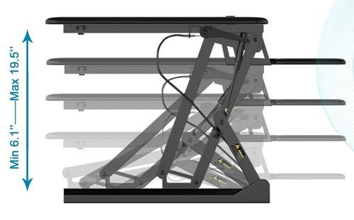 Fezibo Standing Desk Converter Review - Dimensions