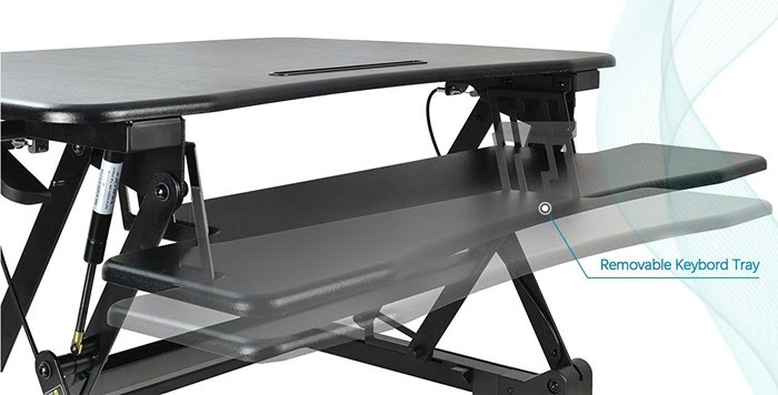 Fezibo Standing Desk Converter Review - Removable Keyboard Tray