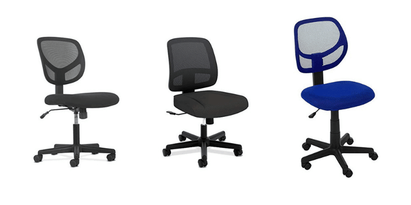 Best ergonomic armless office chairs