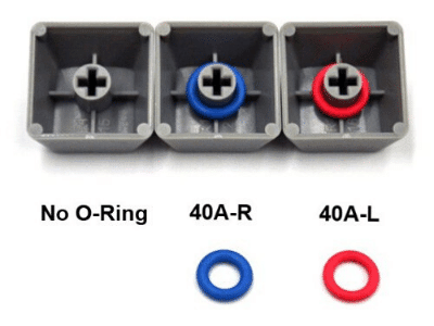 O rings to keep your keyboard quieter